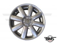 "Refurbished BMW MINI 17"" R104 Silver Crown Spoke Alloy Wheel / Rim R50 R53 R55 R56"