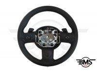 One / Cooper / S / D 3-Spoke Leather Steering Wheel Multifunction Flappy-Paddle R55 R56 R57