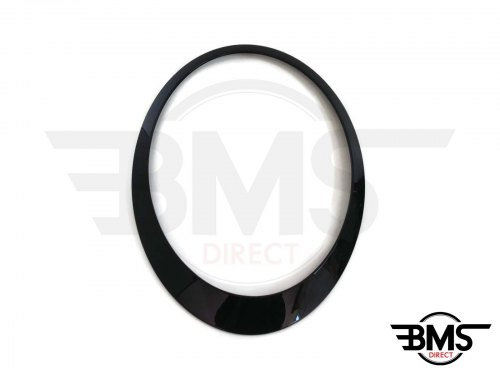 One / Cooper / S Blackline Headlight Surround / Bezel Trim O/S R55 R56 R57