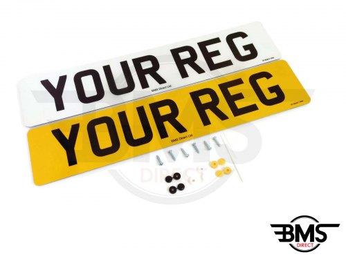 Personalised Registration Plates Front & Back | BMS Direct Ltd.