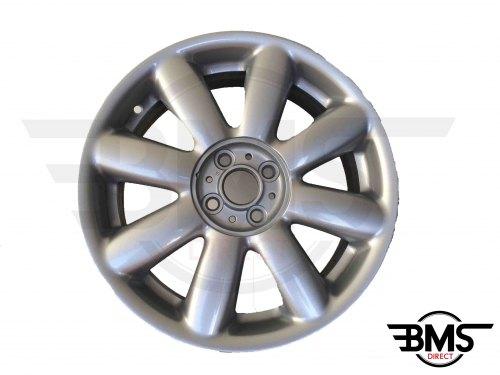 """Refurbished BMW MINI 17"""" R104 Silver Crown Spoke Alloy Wheel / Rim R50 R53 R55 R56"""