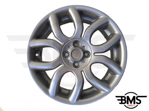 "Refurbished BMW MINI 17"" R97 Silver Flame Spoke Alloy Wheel / Rim R50 R53 R55 R56"
