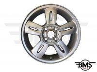 """Refurbished BMW MINI 15"""" Silver R93 Rocket Spoke Alloy Wheel / Rim R50 R52 R53"""