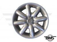 "Refurbished BMW MINI 17"" R85 Silver S Spoke Alloy Wheel / Rim R50 R52 R53"