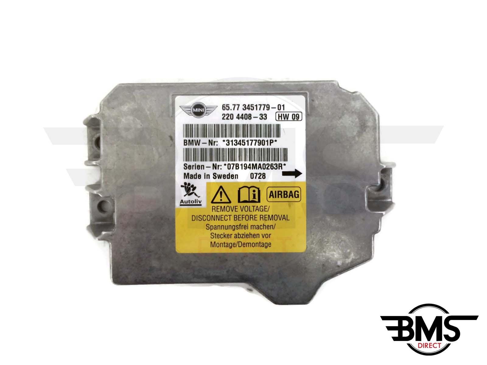 Genuine Used BMW MINI Airbag Control Unit for R56 R55-3451779