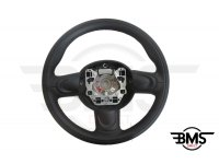 One / Cooper S / D 3-Spoke Leather Steering Wheel Non-Multifunction R55 R56 R57
