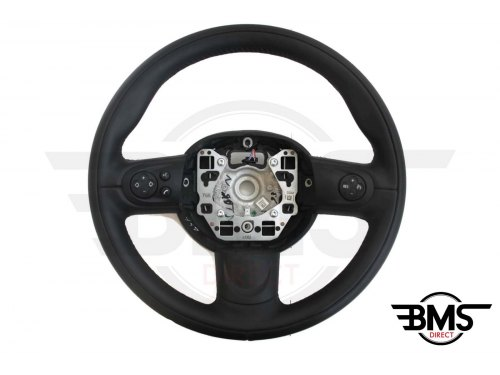 One / Cooper S / D 3-Spoke Leather Steering Wheel Multifunction R55 R56 R57