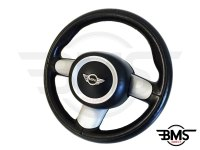 One / Cooper / S 3-Spoke Leather Steering Wheel and Airbag Set R50 R53