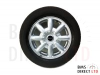 "15"" Silver 8 Spoke LA 82 Alloy Wheel & Tyre R50 R52 R53"
