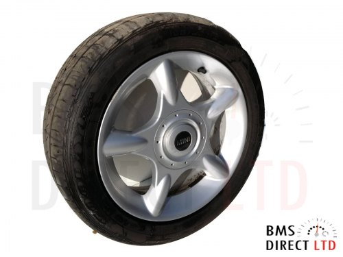 "16"" Silver 5 Spider Spoke 83 Alloy Wheel & Tyre R50 R52 R53"